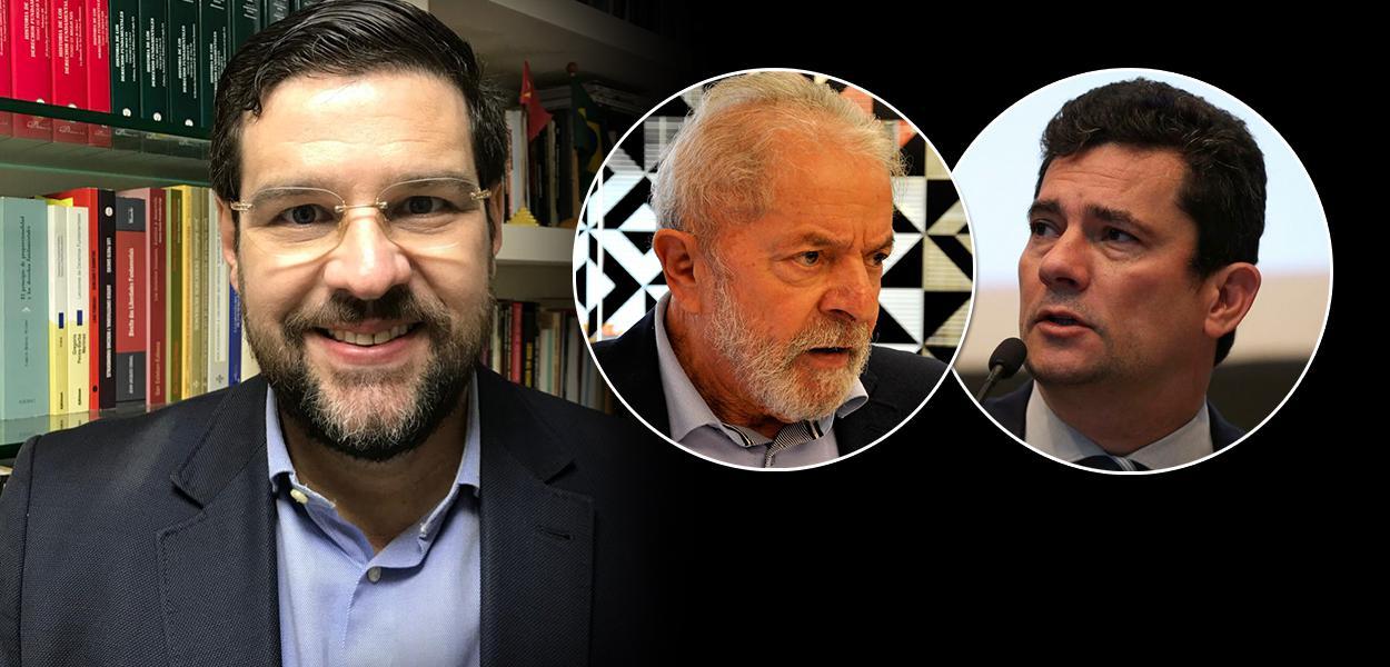 Jurista Marcelo Uchôa, ex-presidente Lula e Sérgio Moro