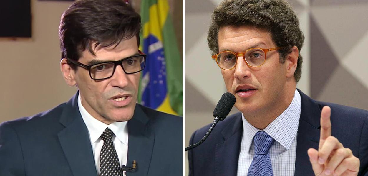 Delegado Alexandre Saraiva e o ministro do Meio Ambiente, Ricardo Salles