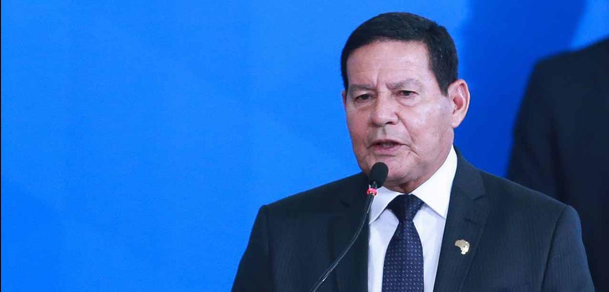 O vice-presidente da república, general Hamilton Mourão