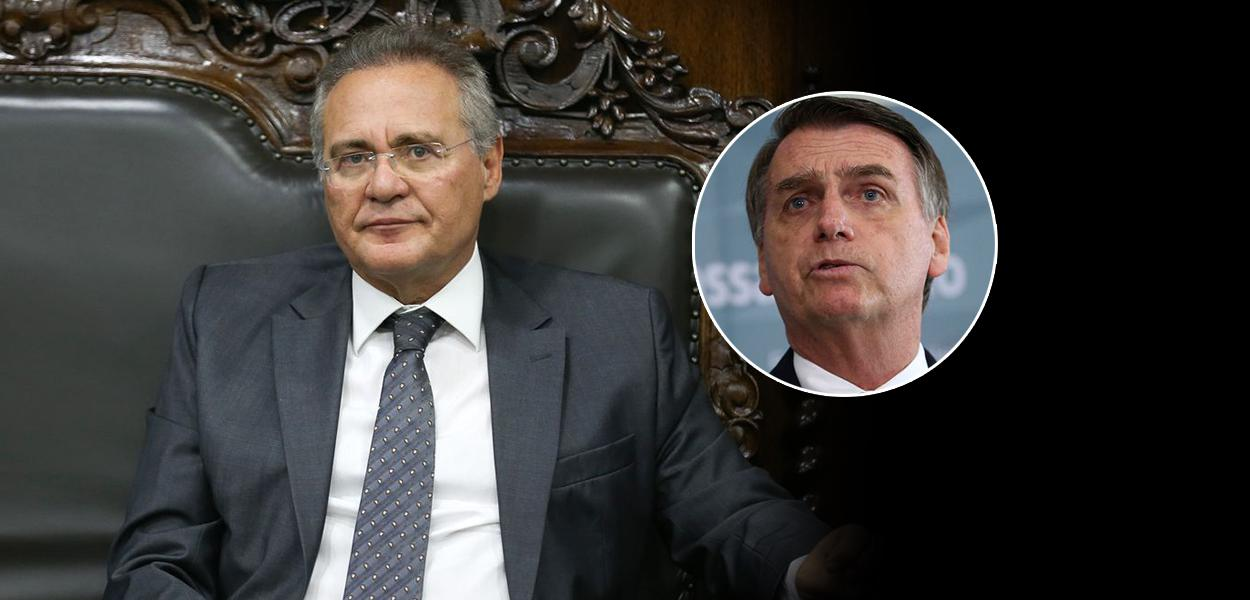 Renan Calheiros e Bolsonaro