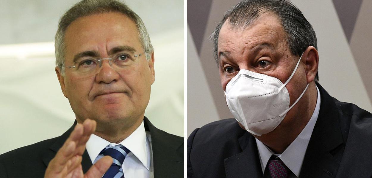 Renan Calheiros (MDB-AL) e Omar Aziz (PSD-AM)