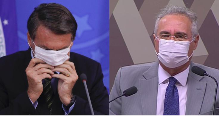 Bolsonaro e Renan Calheiros (Foto: reprodução)