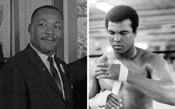 Luther King e Cassius Clay
