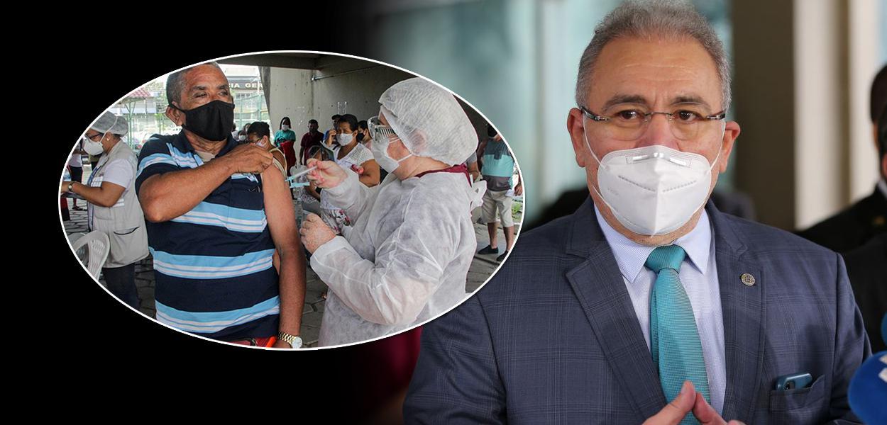 Vacinação e o ministro da Saúde, Marcelo Queiroga