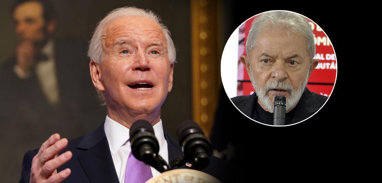 Presidente dos EUA, Joe Biden, e o ex-presidente Lula