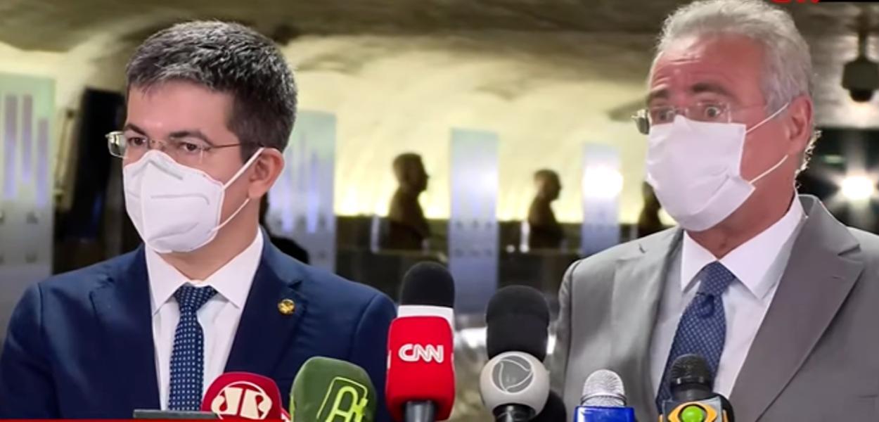 Randolfe Rodrigues e Renan Calheiros