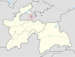 Região de Vorukh circulada em vermelho