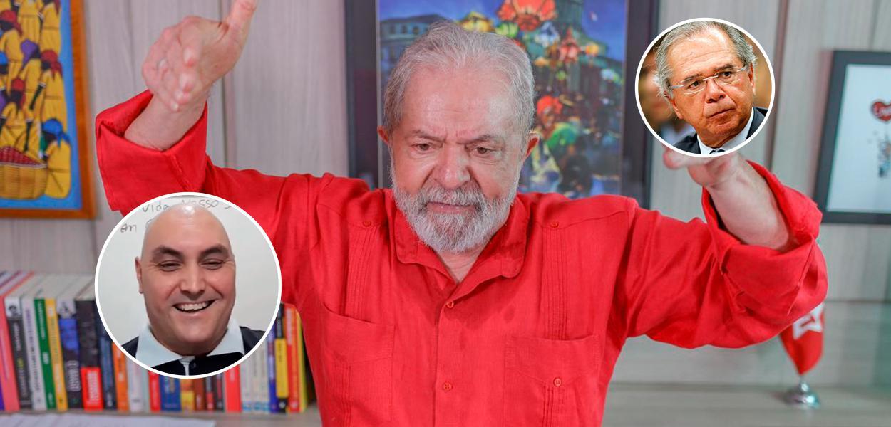 André Senna, Lula e Paulo Guedes