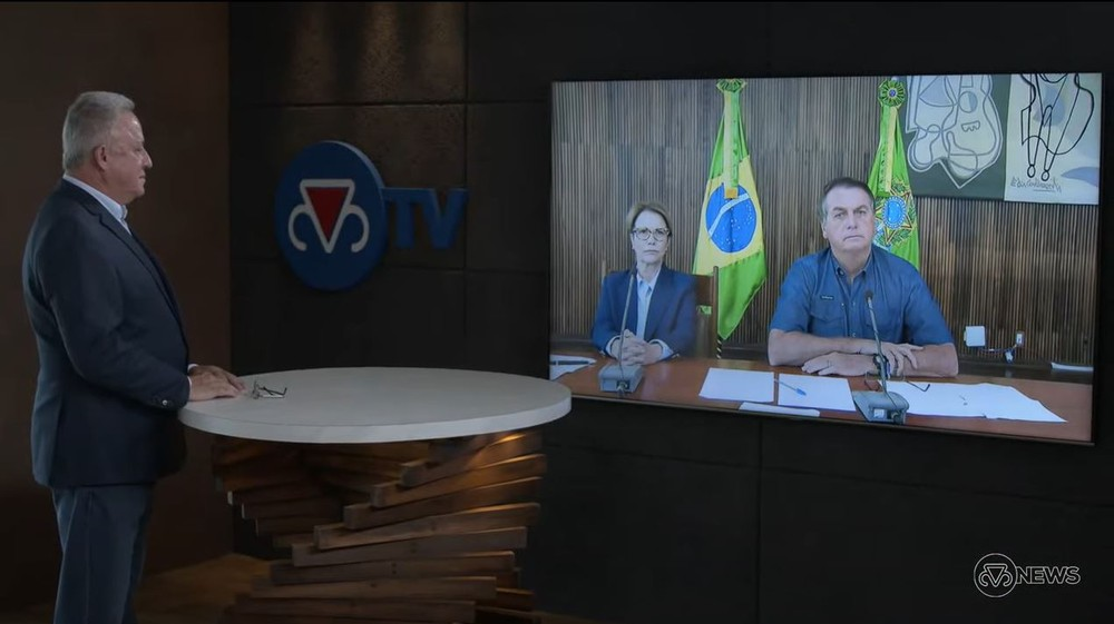 Bolsonaro falou a pecuaristas (reprodução)