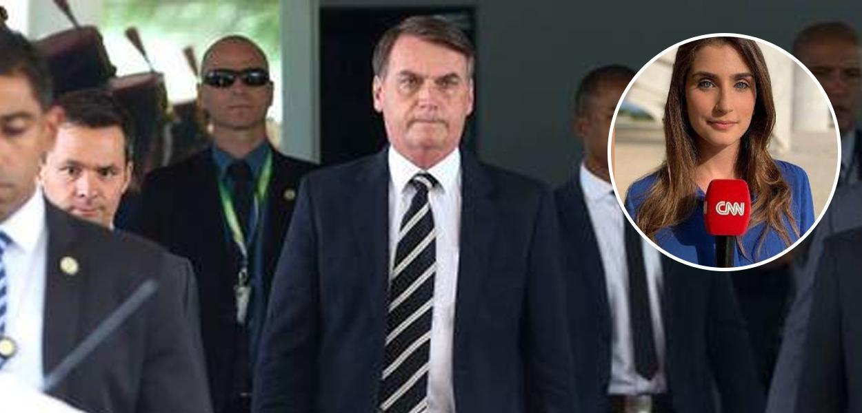 Jair Bolsonaro e Carla Bridi