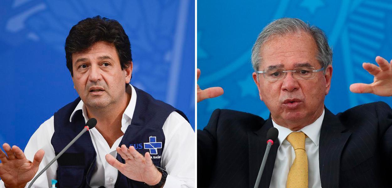 Luiz Henrique Mandetta e Paulo Guedes