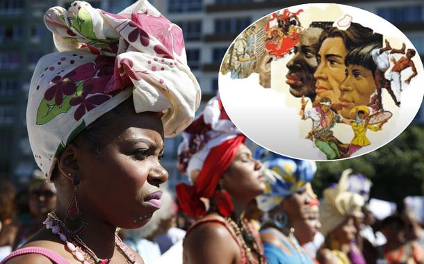 Mulheres marcham em Copacabana para celebrar dia da Mulher Negra Latino-americana e Caribenha durante a 3ª Marcha das Mulheres Negras no Centro do Mundo