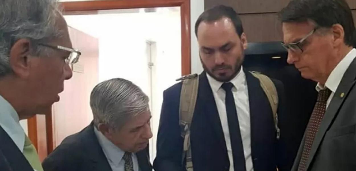 Guedes, Heleno, Carlos e Jair Bolsonaro