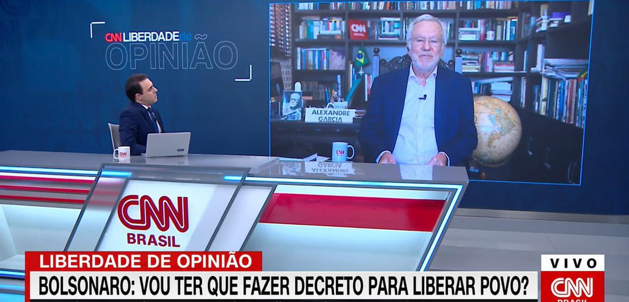 Jornalistas Rafael Colombo e Alexandre Garcia