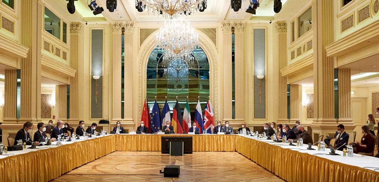 Reunião dos diplomatas do JCPOA no Grand Hotel Wien, em Viena, na Áustria