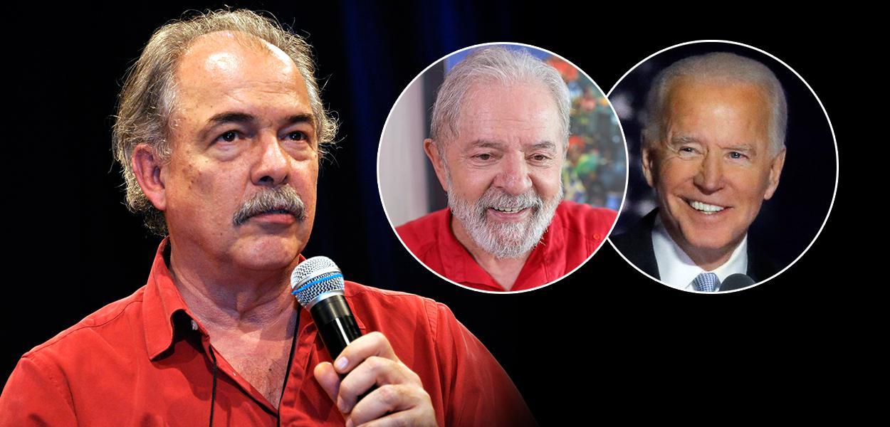 Aloizio Mercadante, Lula e Joe Biden