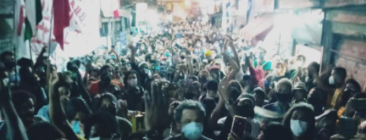 Manifestação contra Chacina do Jacarezinho