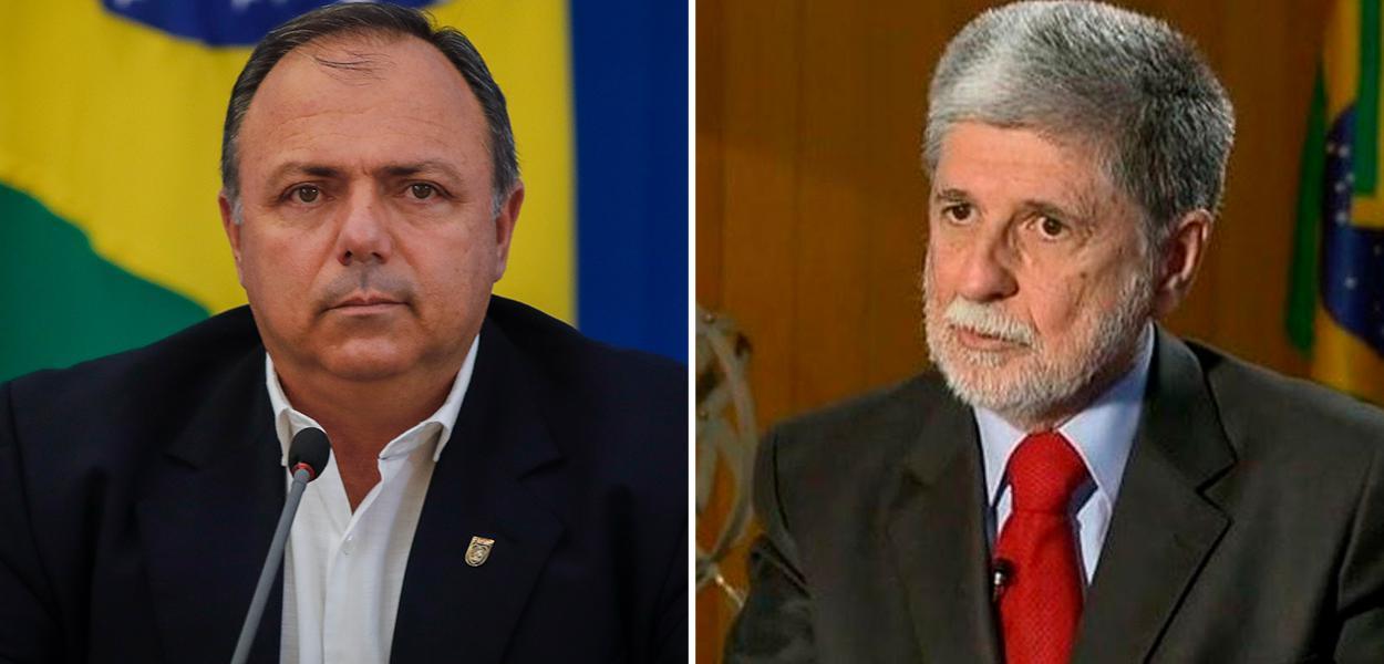 Eduardo Pazuello e Celso Amorim