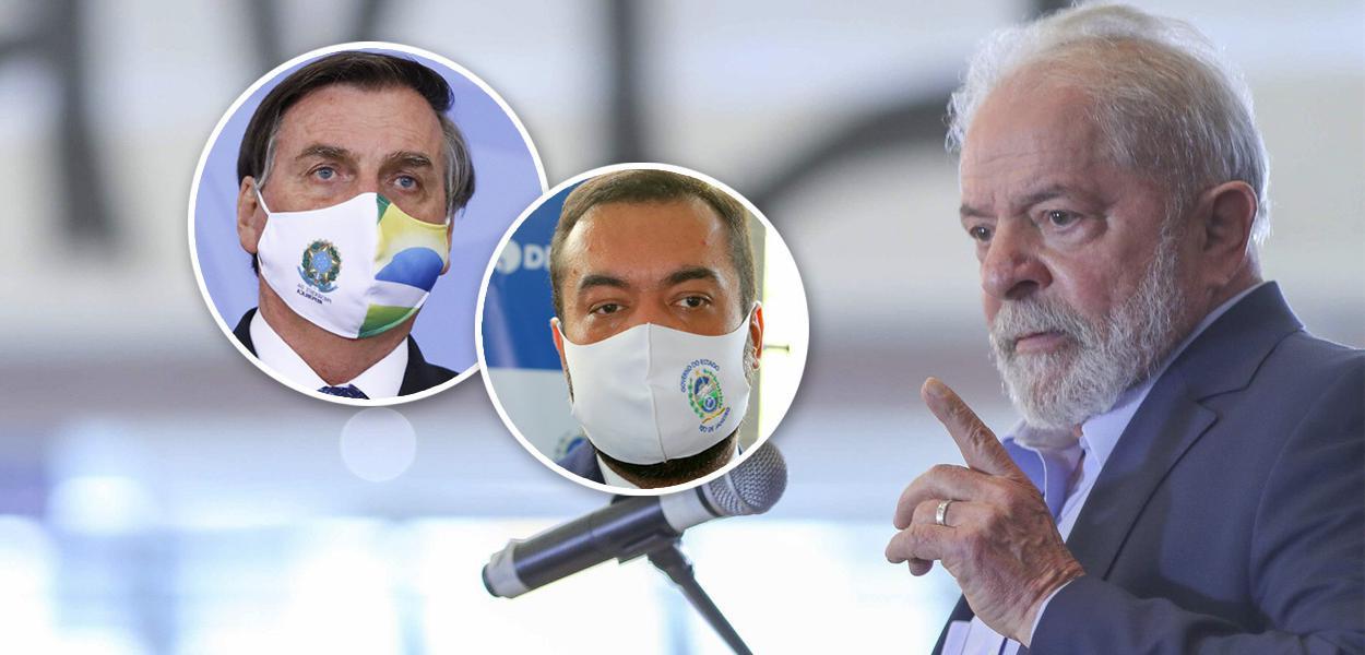 Jair Bolsonaro, o governador do Rio, Cláudio Castro, e o ex-presidente Lula