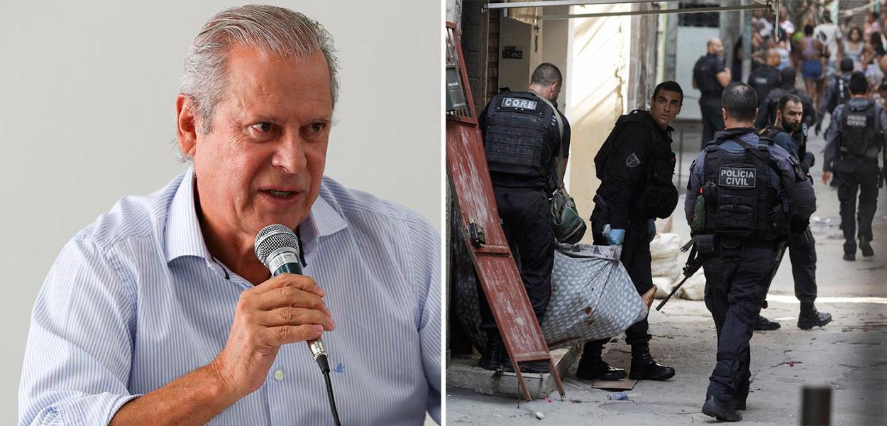 Ex-ministro José Dirceu e a operação policial que terminou com uma chacina no Jacarezinho (RJ)