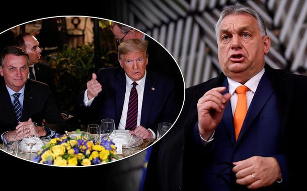 Jair Bolsonaro, Donald Trump e Viktor Orbán