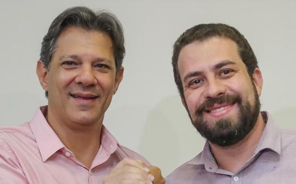 Ex-prefeito de SP Fernando Haddad e o líder do MTST, Guilherme Boulos