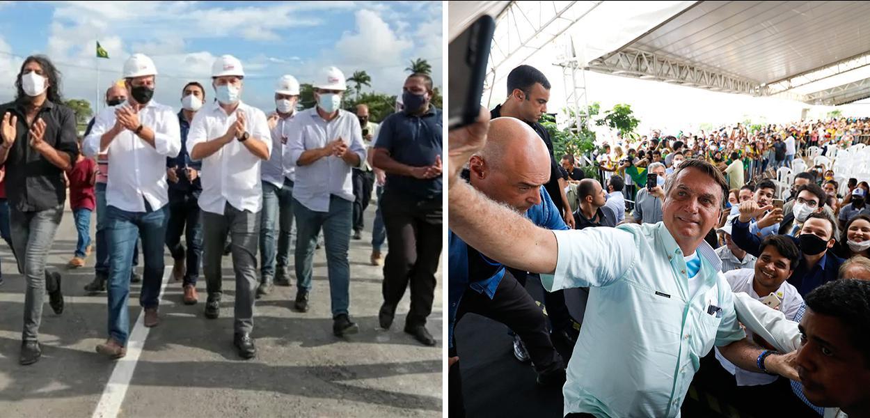 Renan Filho e Jair Bolsonaro em Alagoas