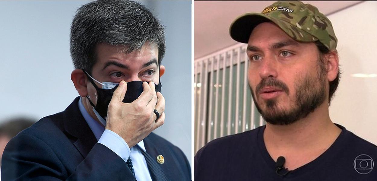 Randolfe Rodrigues e Carlos Bolsonaro