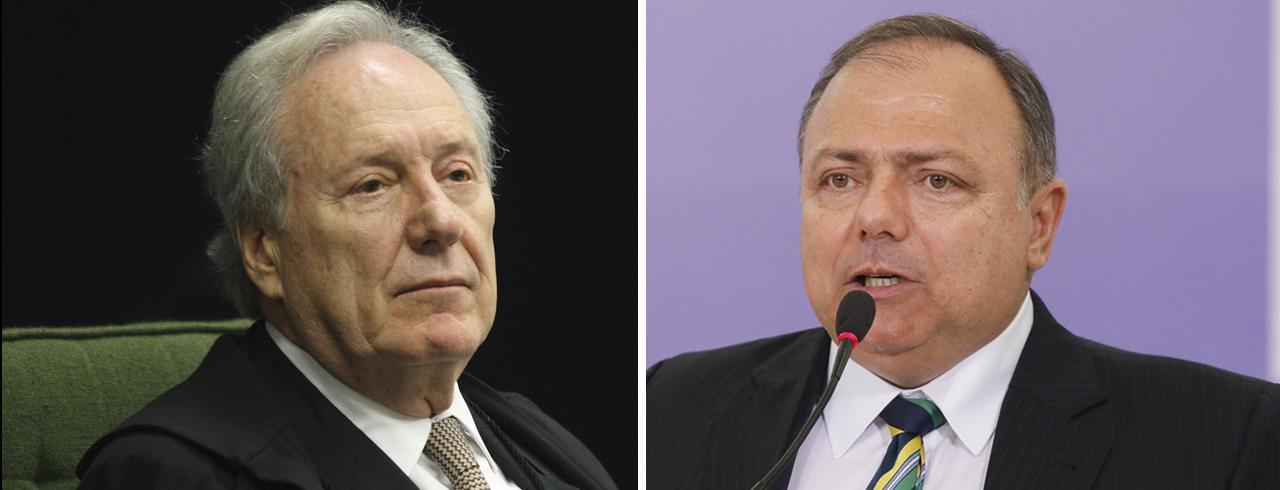 Ricardo Lewandowski e Eduardo Pazuello