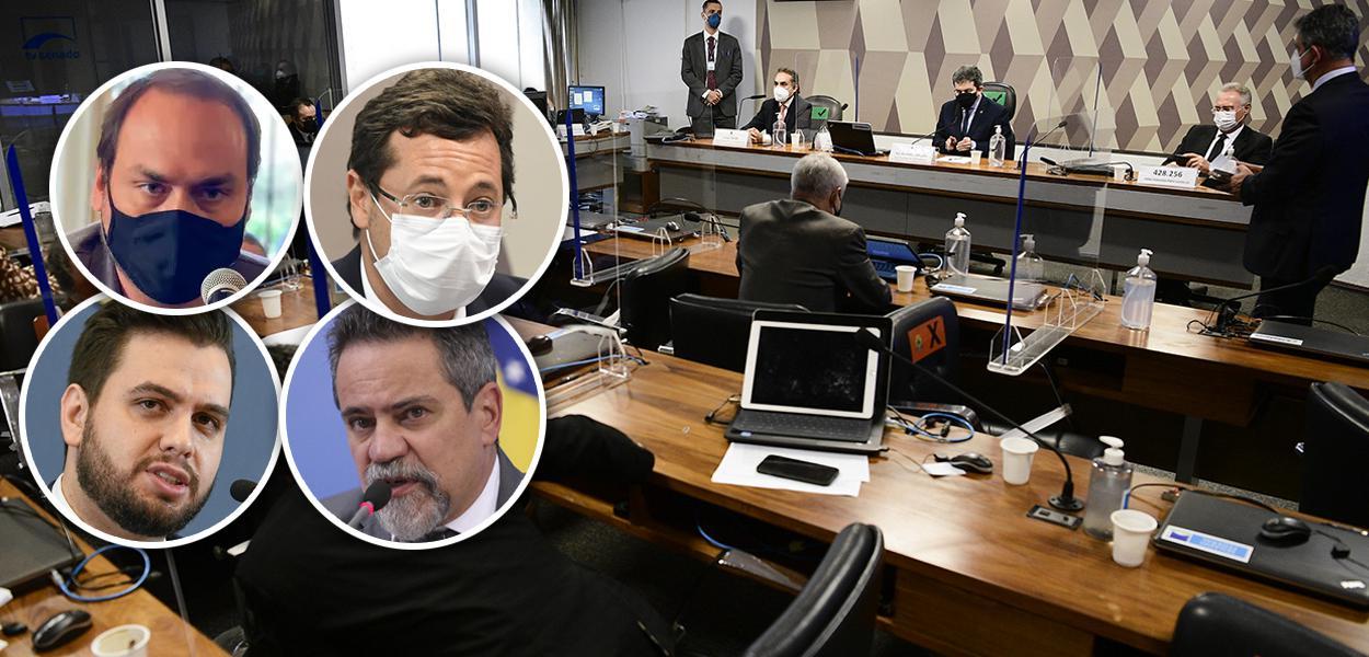 Carlos Bolsonaro, Fabio Wajngarten, Filipe Martons, Elcio Franco e CPI da Pandemia