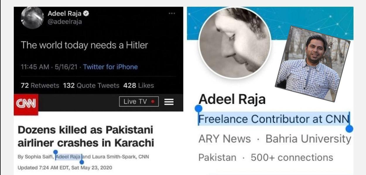 repórter freelance da CNN Internacional Adeel Raja