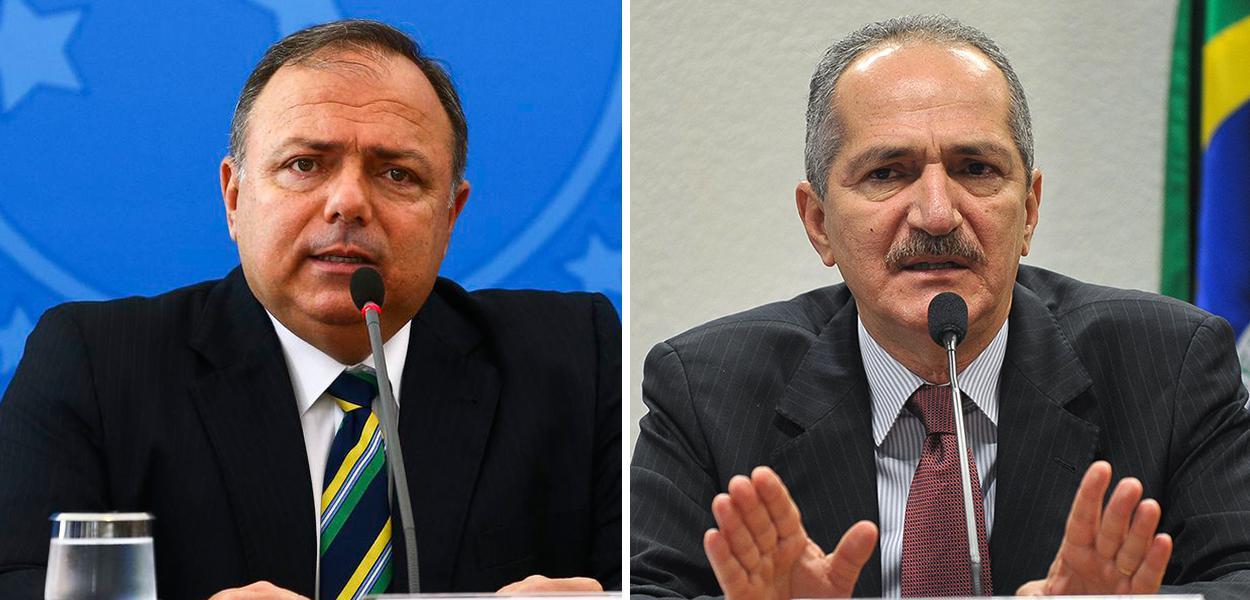 Eduardo Pazuello e Aldo Rebelo