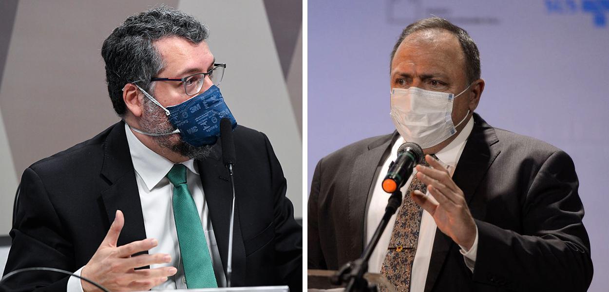 Ernesto Araújo e Eduardo Pazuello