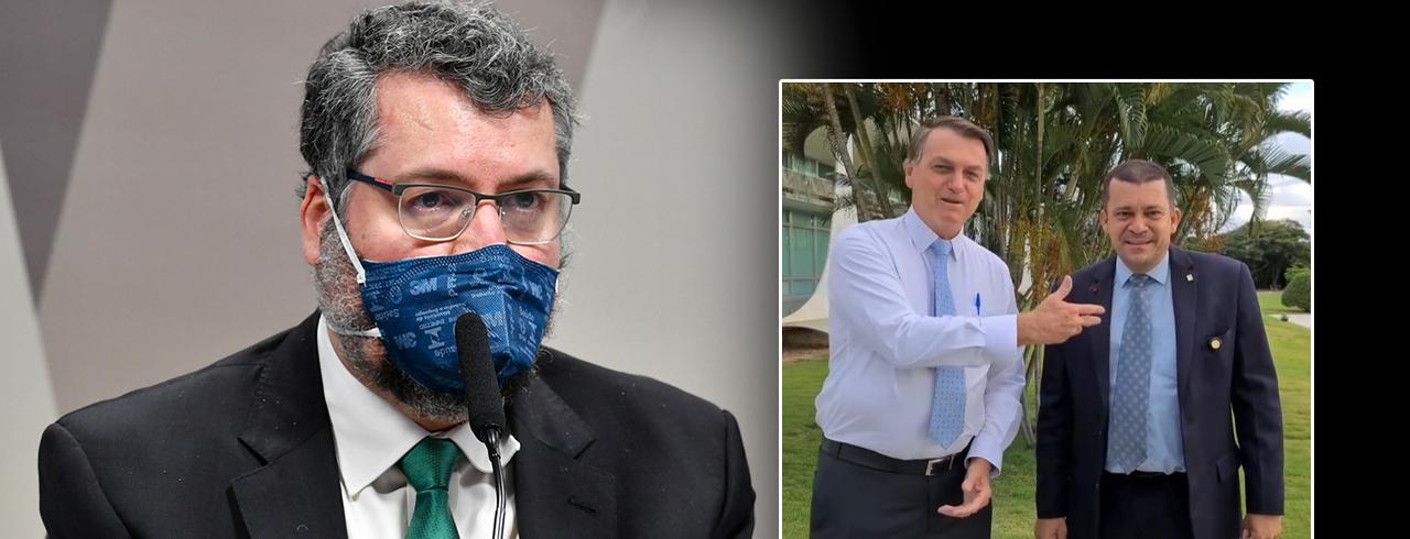 Ernesto Araujo, Bolsonaro e Max Moura