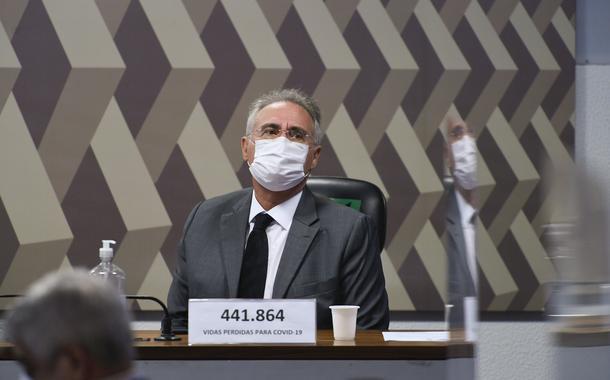 Senador Renan Calheiros na CPI da Covid