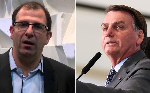 Michel Gherman e Jair Bolsonaro