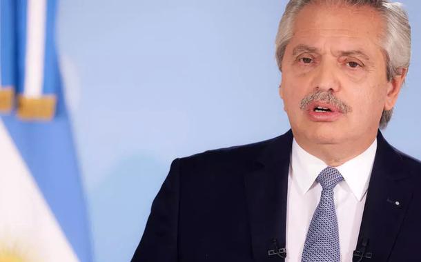 """O presidente Alberto Fernández disse que """"a Argentina está vivendo o pior momento desde que começou a pandemia""""."""
