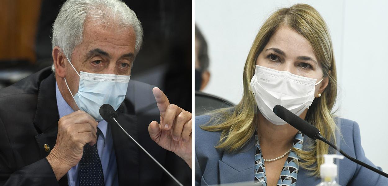 O senador Otto Alencar e a secretária de Gestão do Trabalho e da Educação do Ministério da Saúde, Mayra Pinheiro