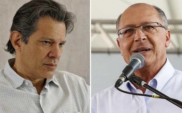 Fernando Haddad e Geraldo Alckmin
