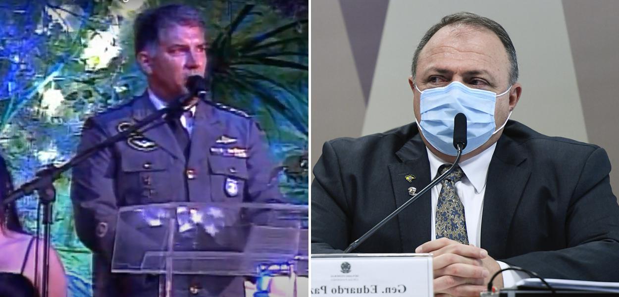 George Divério e Eduardo Pazuello