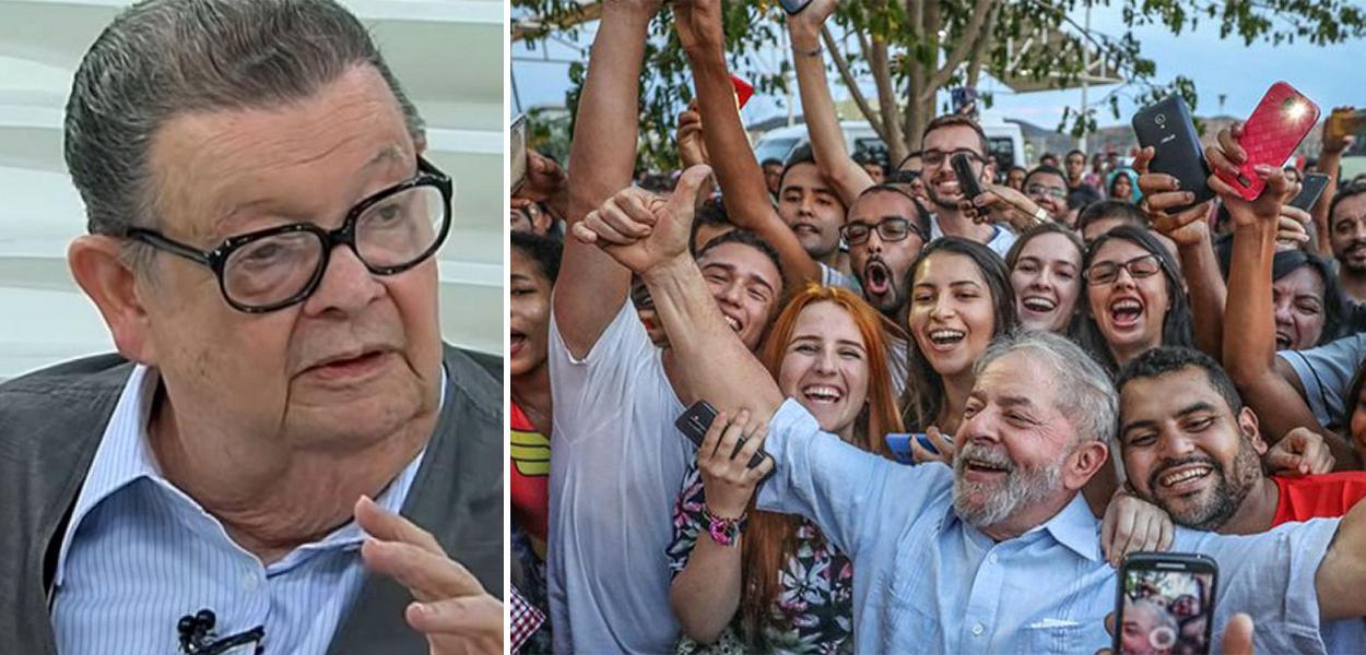 Ex-ministro Delfim Netto e o ex-presidente Lula