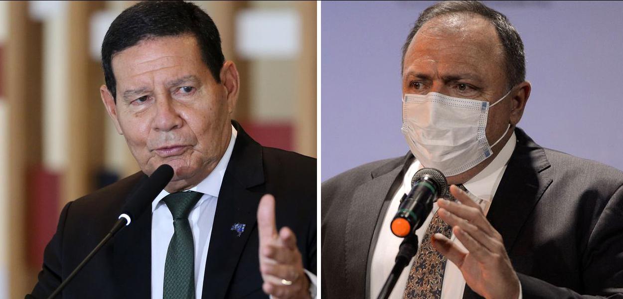 Hamilton Mourão e Eduardo Pazuello