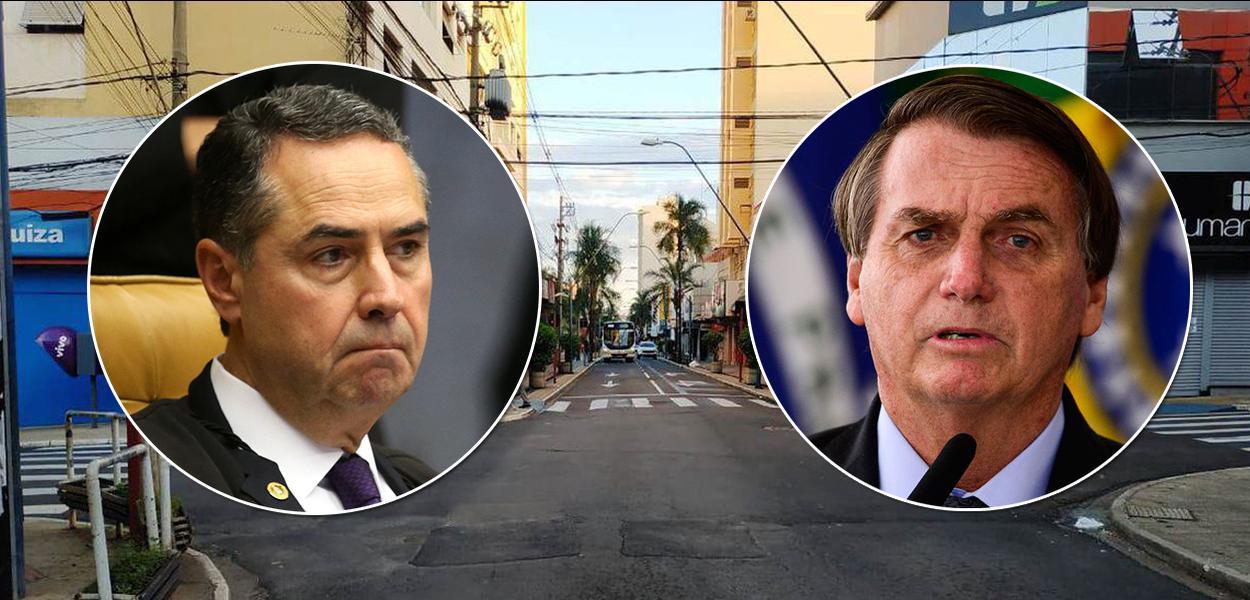 Luís Roberto Barroso e Jair Bolsonaro | lockdown