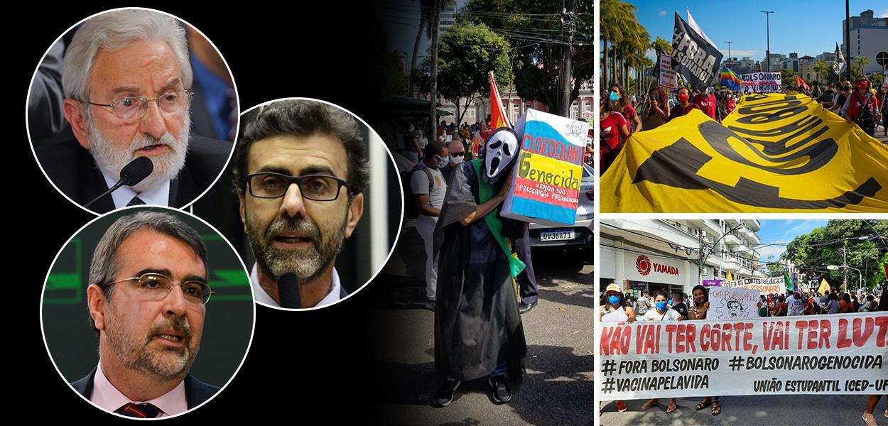 Deputados Ivan Valente (PSOL-SP), Henrique Fontana (PT-RS) e Marcelo Freixo (PSOL-RJ)