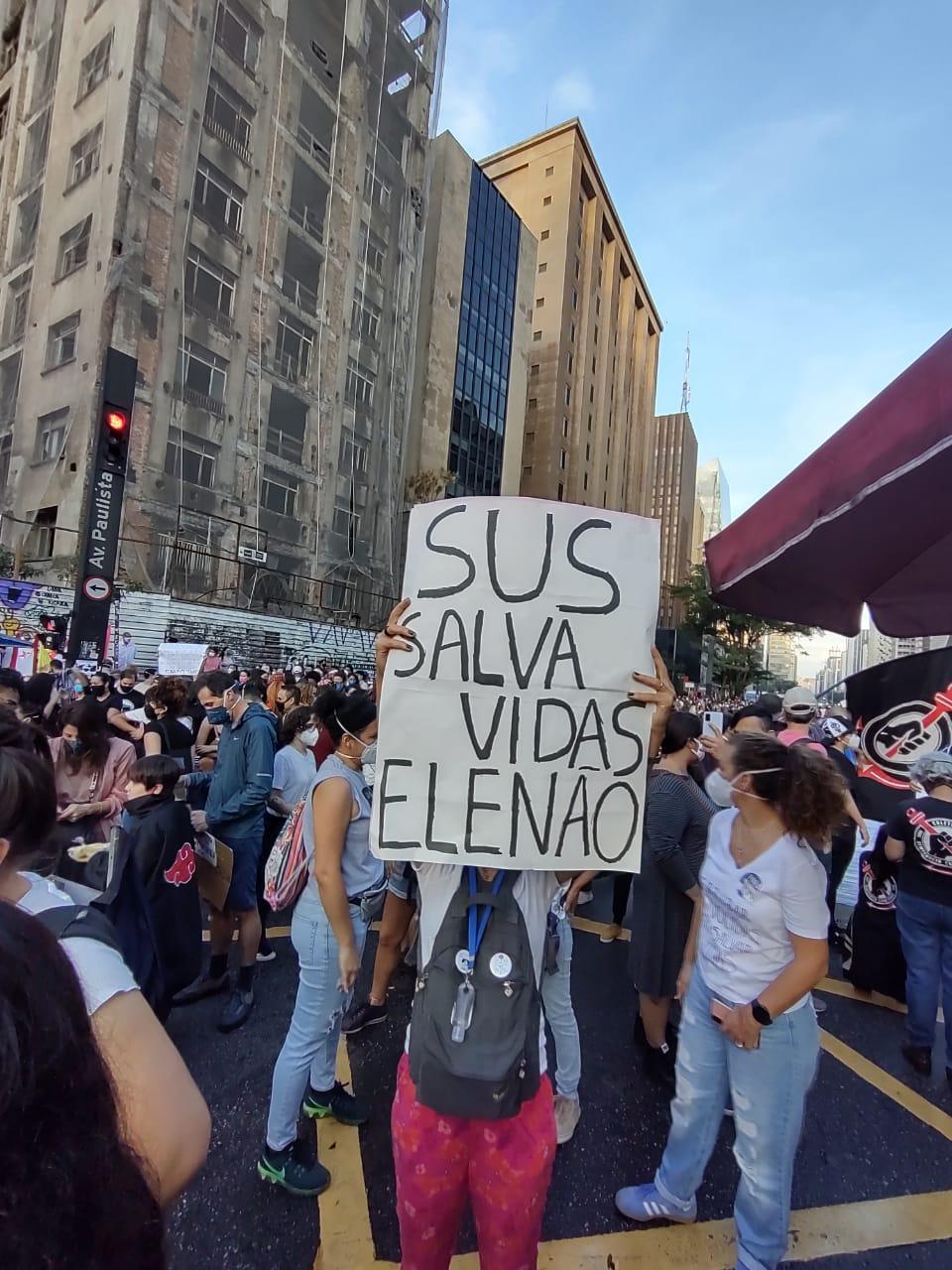Ato contra Jair Bolsonaro Paulista