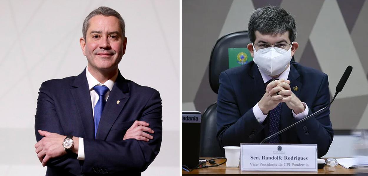 Rogério Caboclo e Randolfe Rodrigues