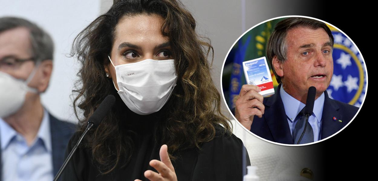 Luana Araújo e Jair Bolsonaro