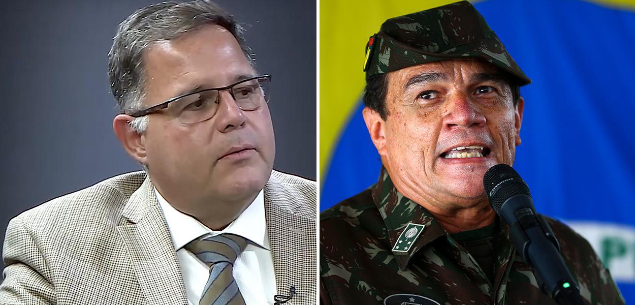 Luís Costa Pinto e general Paulo Sérgio