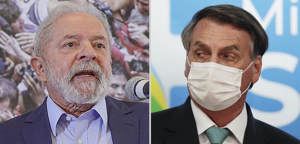 Lua e Jair Bolsonaro
