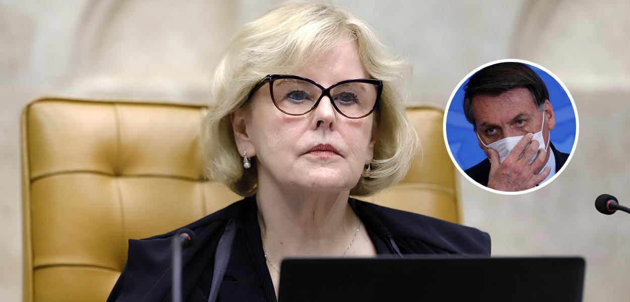 Rosa Weber e Bolsonaro